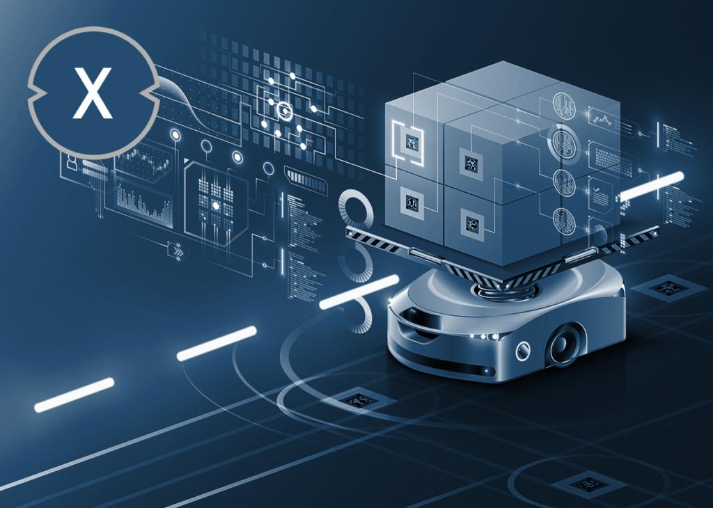 Smart Factory: Transportroboter in der Fabrik bzw. im Lager