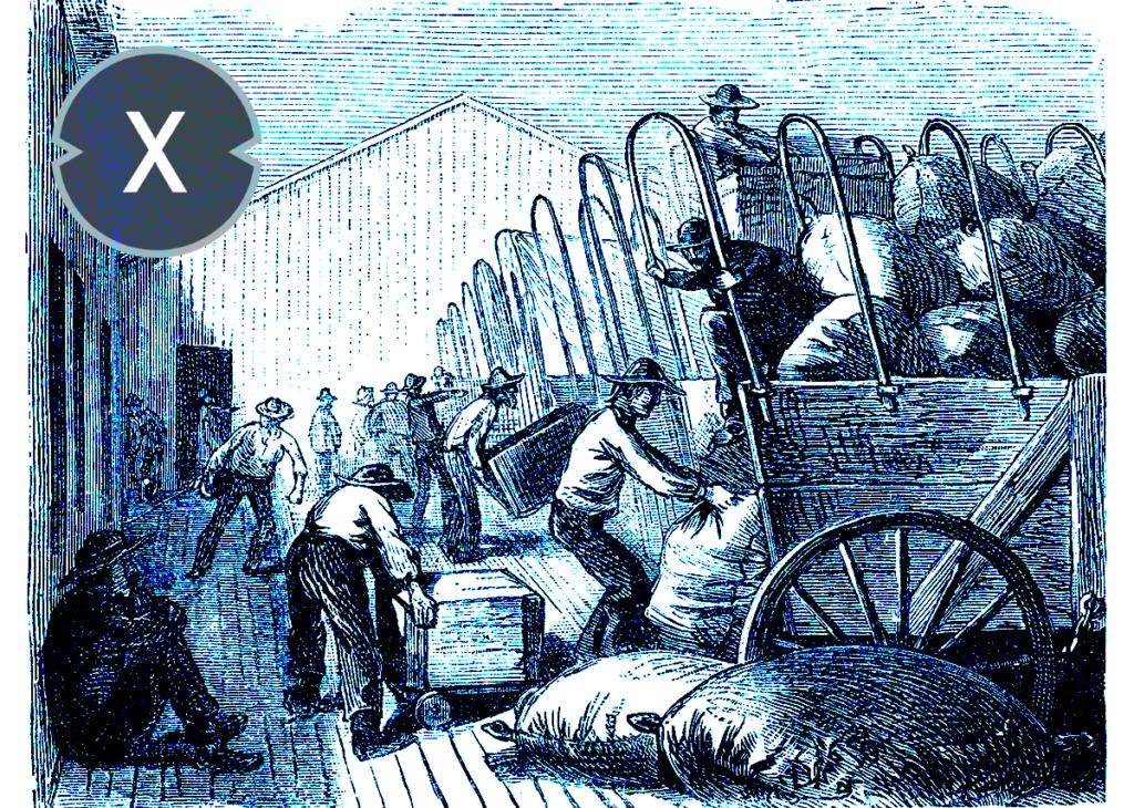 Logistik in den 1850ern / Geschichte der Intralogistik
