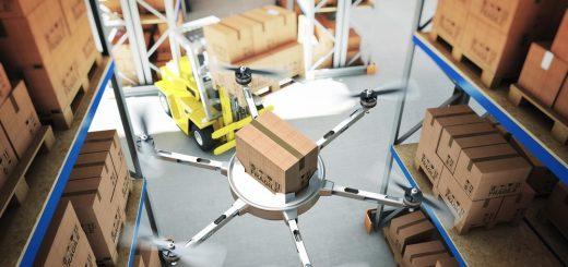 Drohne im Lager