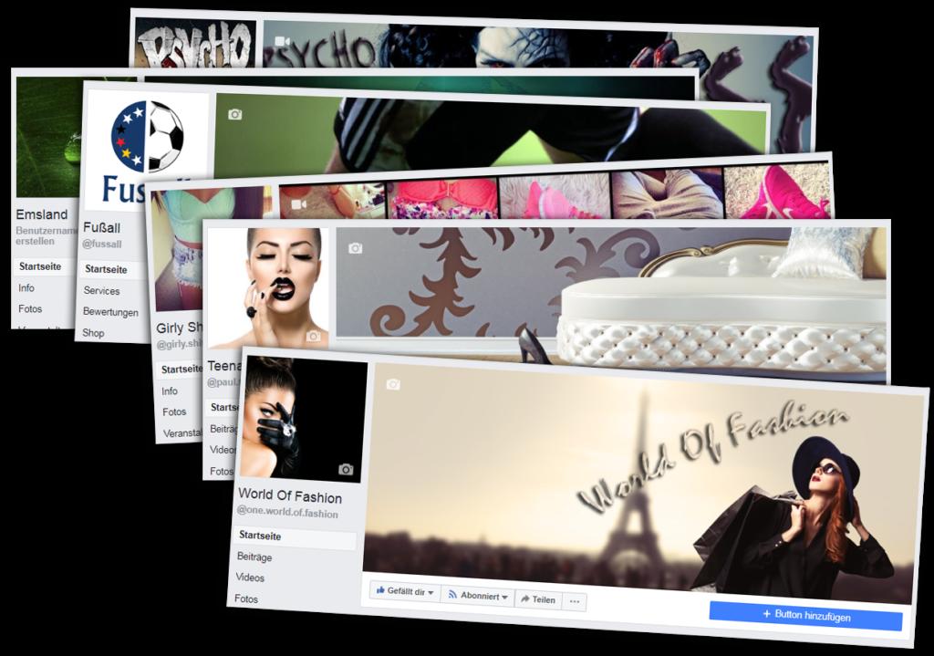 Diverse Facebook Projekte (Fanseiten) im Angebot