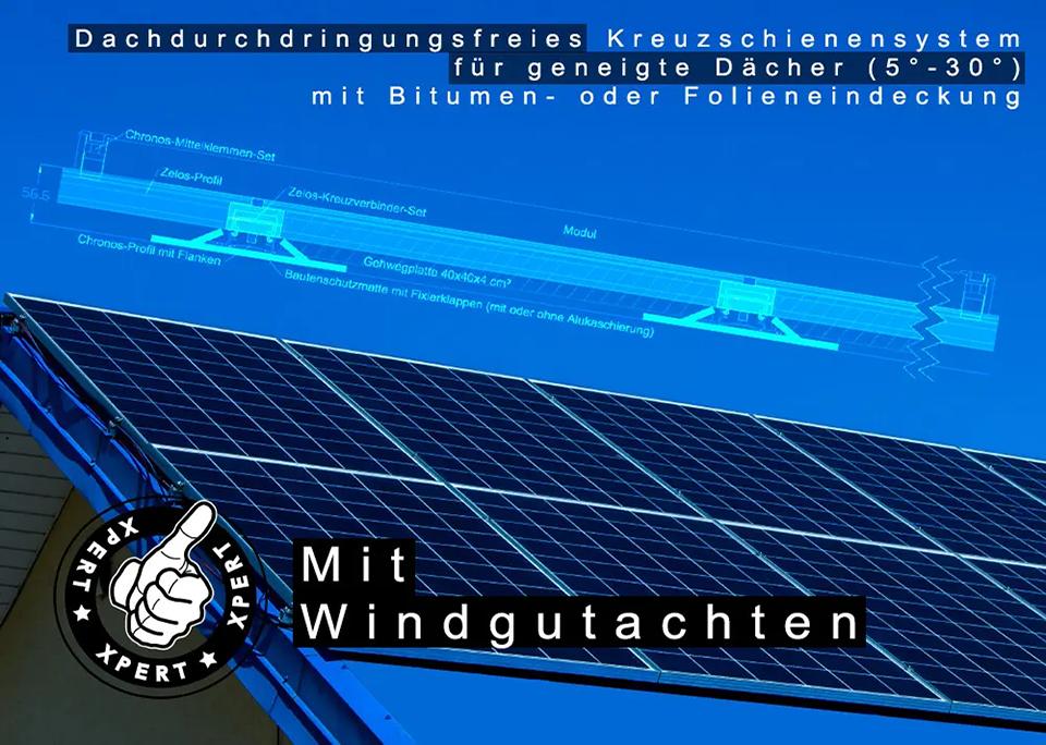 Dachdurchdringungsfreies Kreuzschienensystem - @Xpert