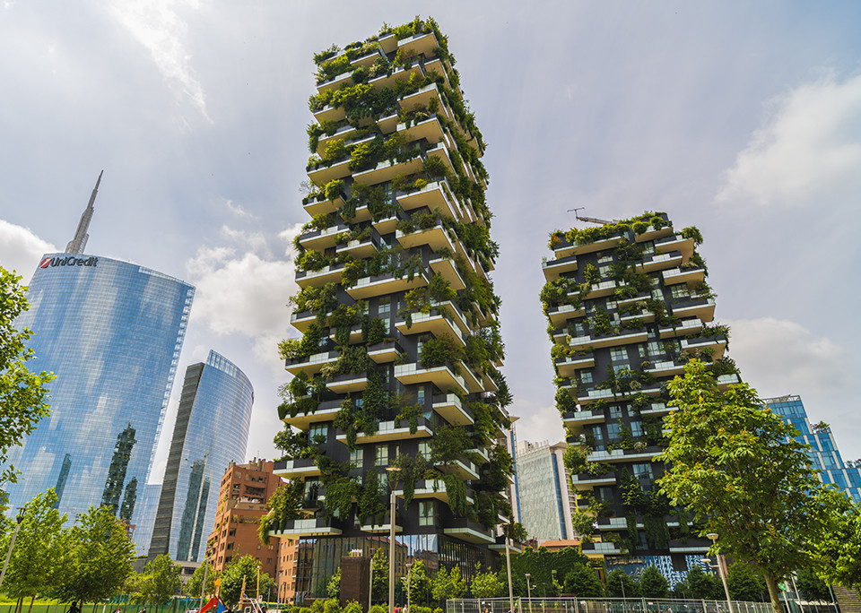 Bosco Verticale, Vertical Forest Apartment Buildings in Milan, Italy - @shutterstock | Cristian Zamfir