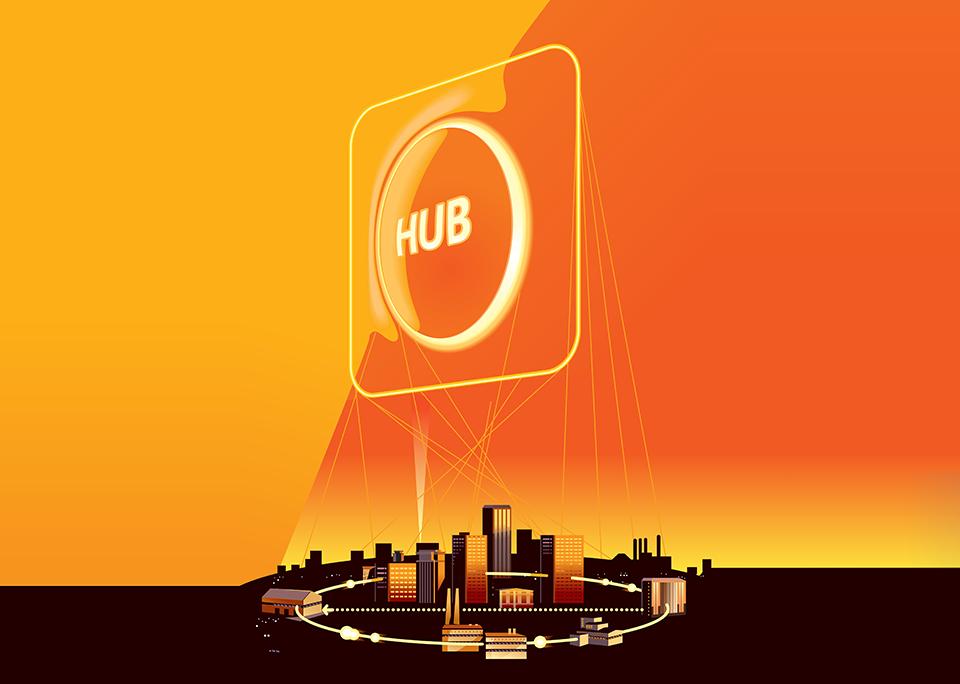 Lokale dezentrale Hubs
