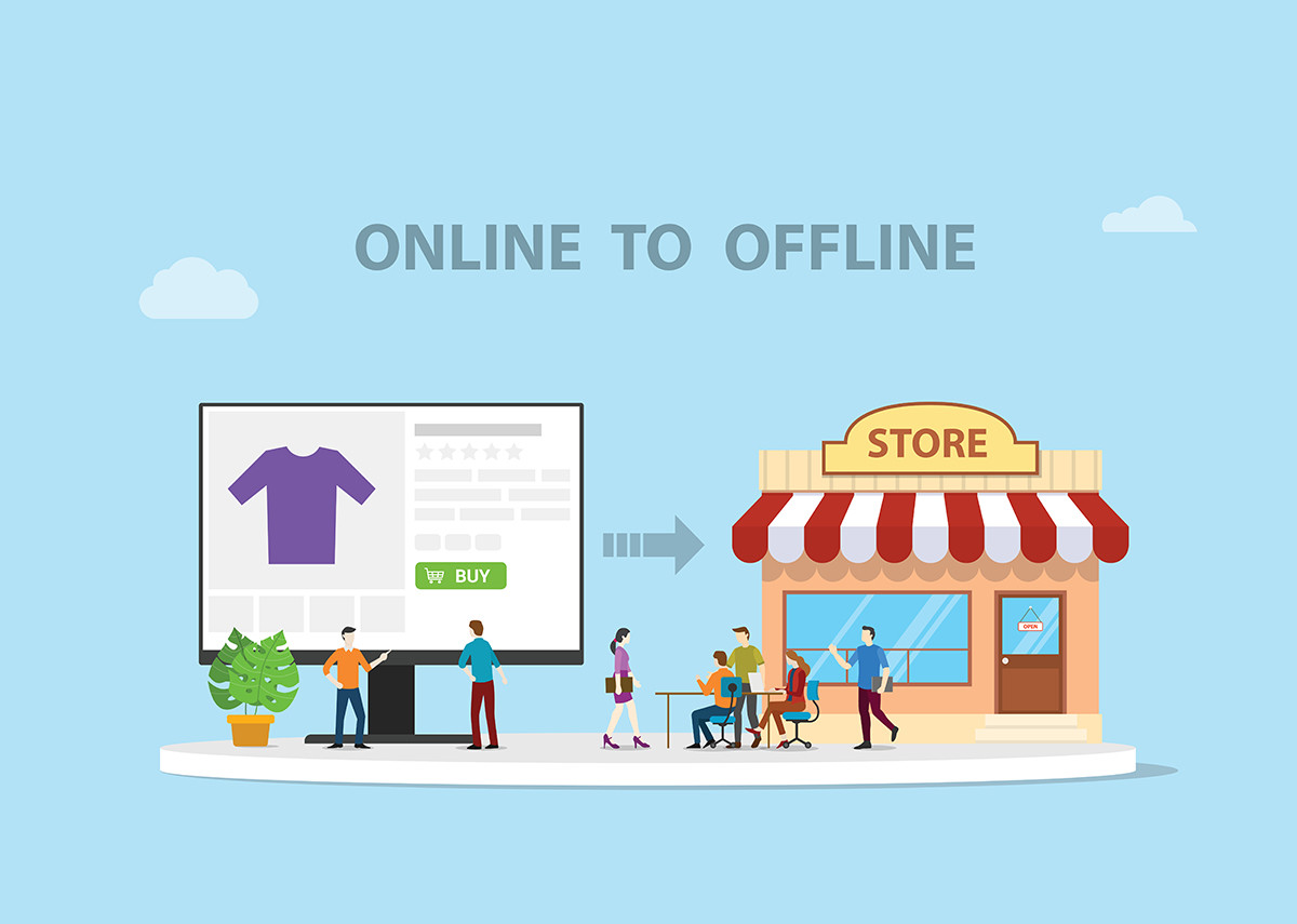 Online to Offline O2O - Bild: @shutterstock Ribkhan