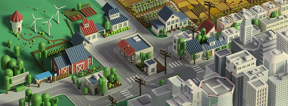 Im Fokus: Urbanisierung und ländliche Infrastruktur – Bild: @shutterstock|Bug_Fish