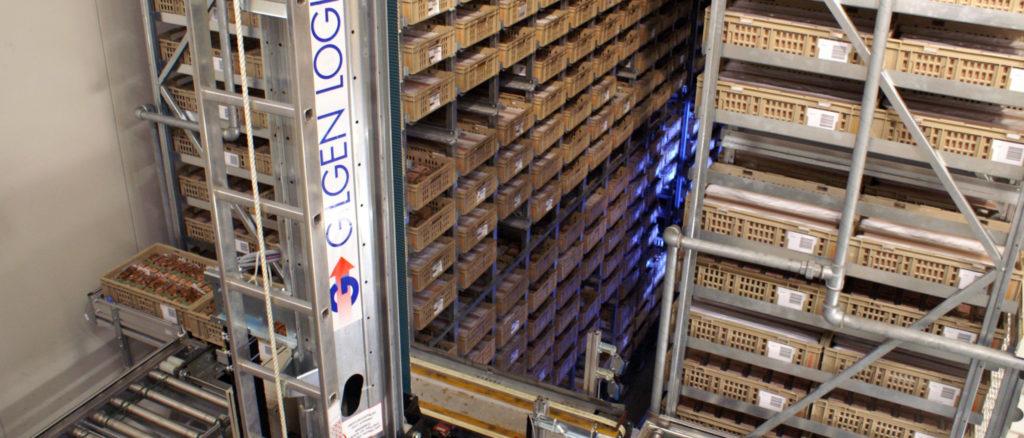 Automatisches Kleinteilelager Kühllager