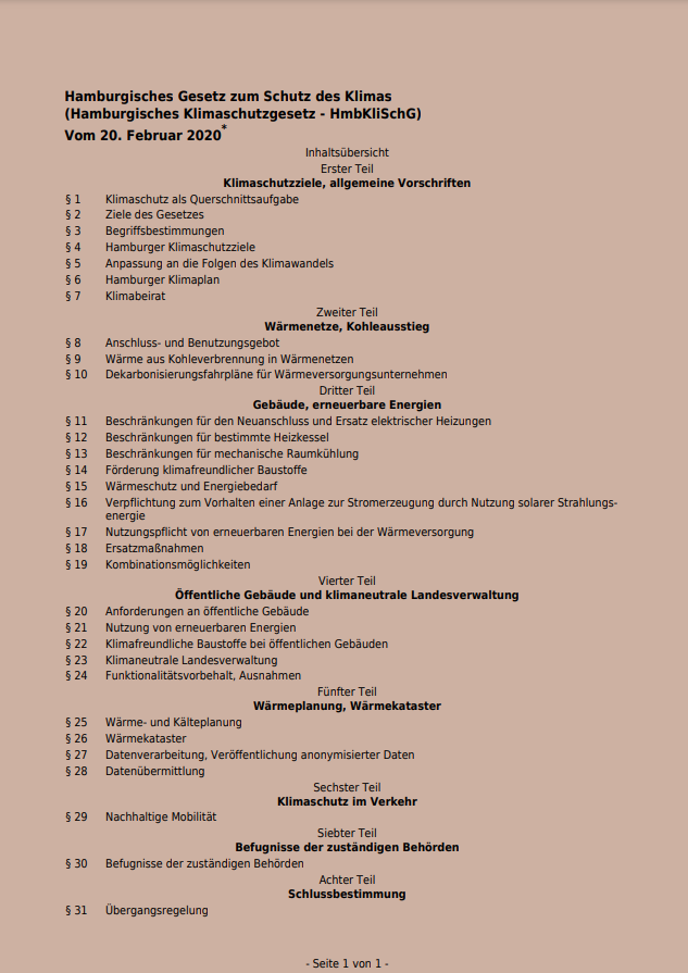 Hamburger Klimaschutzgesetz