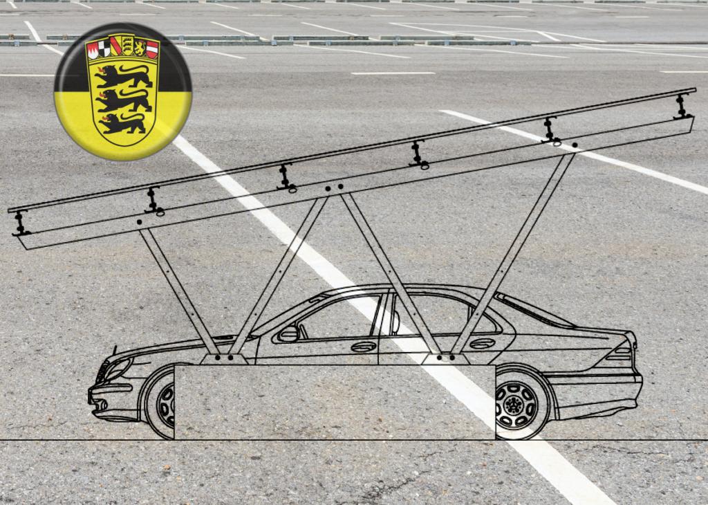 Solar-Carport-s Pflicht für neue Parkplätze in Baden-Württemberg – Bild: Xpert.Digital