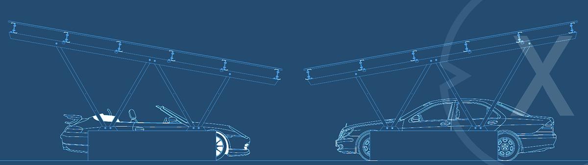 Solarcarport - Parkplatzüberdachgung - Modular wie skalierbar - Bild: Xpert.Digital