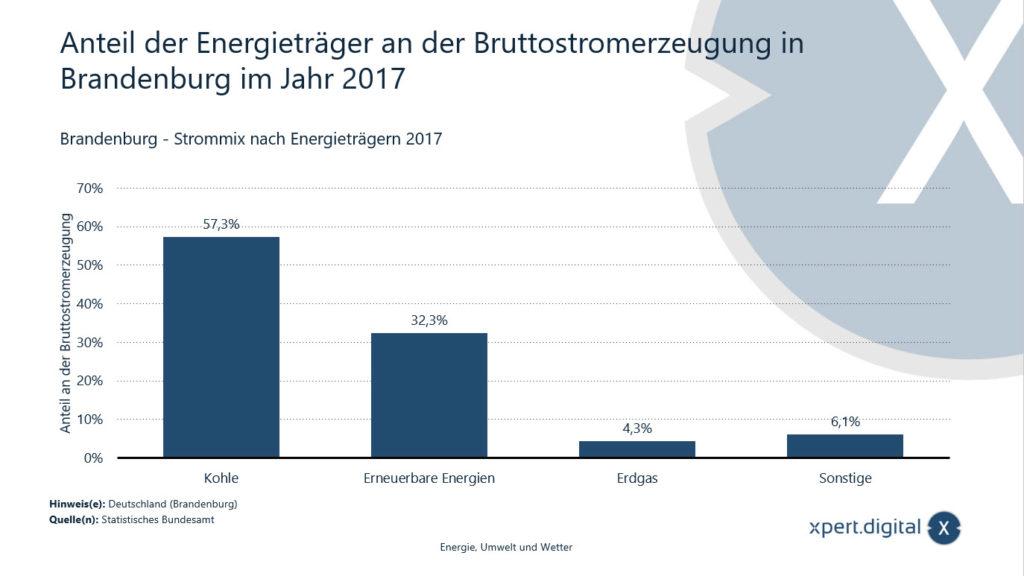 Anteil der Energieträger an der Bruttostromerzeugung in Brandenburg - Bild: Xpert.Digital