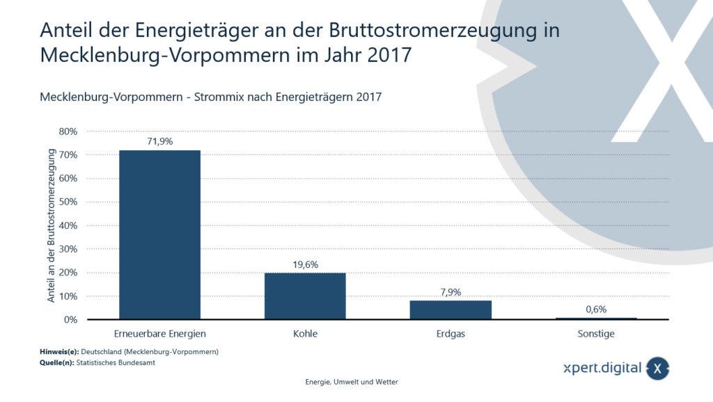 Anteil der Energieträger an der Bruttostromerzeugung in Mecklenburg-Vorpommern - Bild: Xpert.Digital