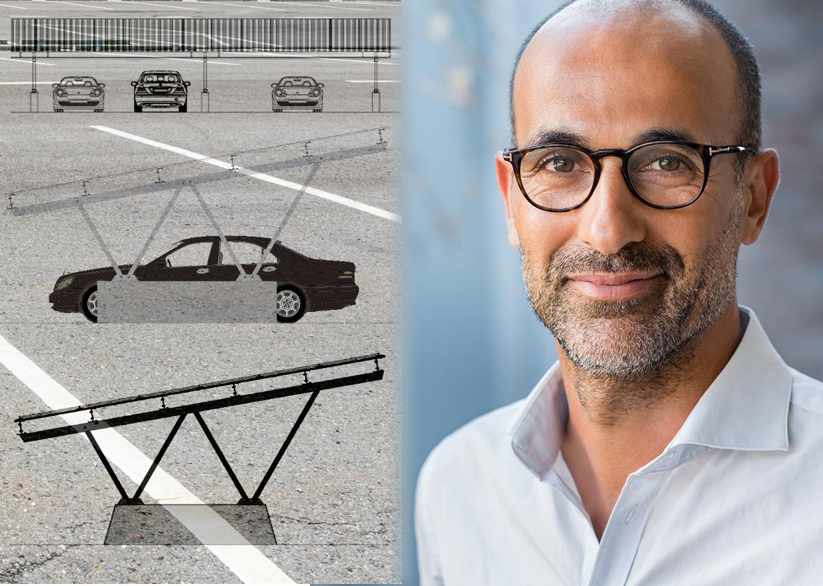 Solar-Carports: Firmenparkplätze - sinnvolle Nutzung versiegelter Flächen - Bild: Xpert.Digital & Rido|Shutterstock.com