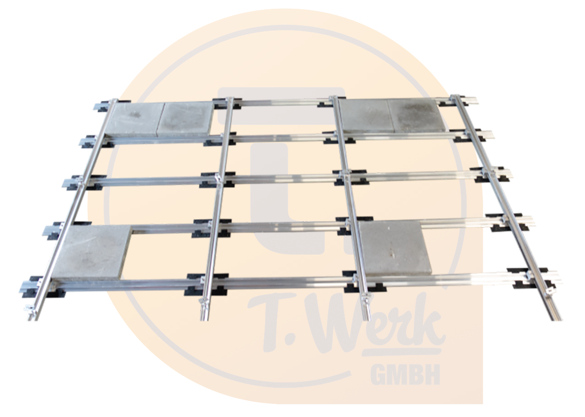 Dachdurchdringungsfreie Unterkonstruktion für Schrägdächer von T.Werk - Bild: Xpert.Digital