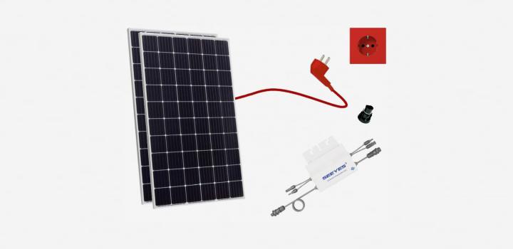 Balkonsolar mit 630 Wp (und mehr möglich), Mini-Solaranlage in der Plug and Play Version