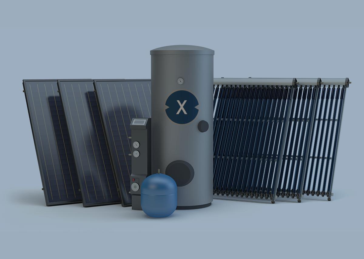 Heizen mit erneuerbarer Energie? Mit Photovoltaik? - Bild: Xpert.Digital & Studio Harmony|Shutterstock.com