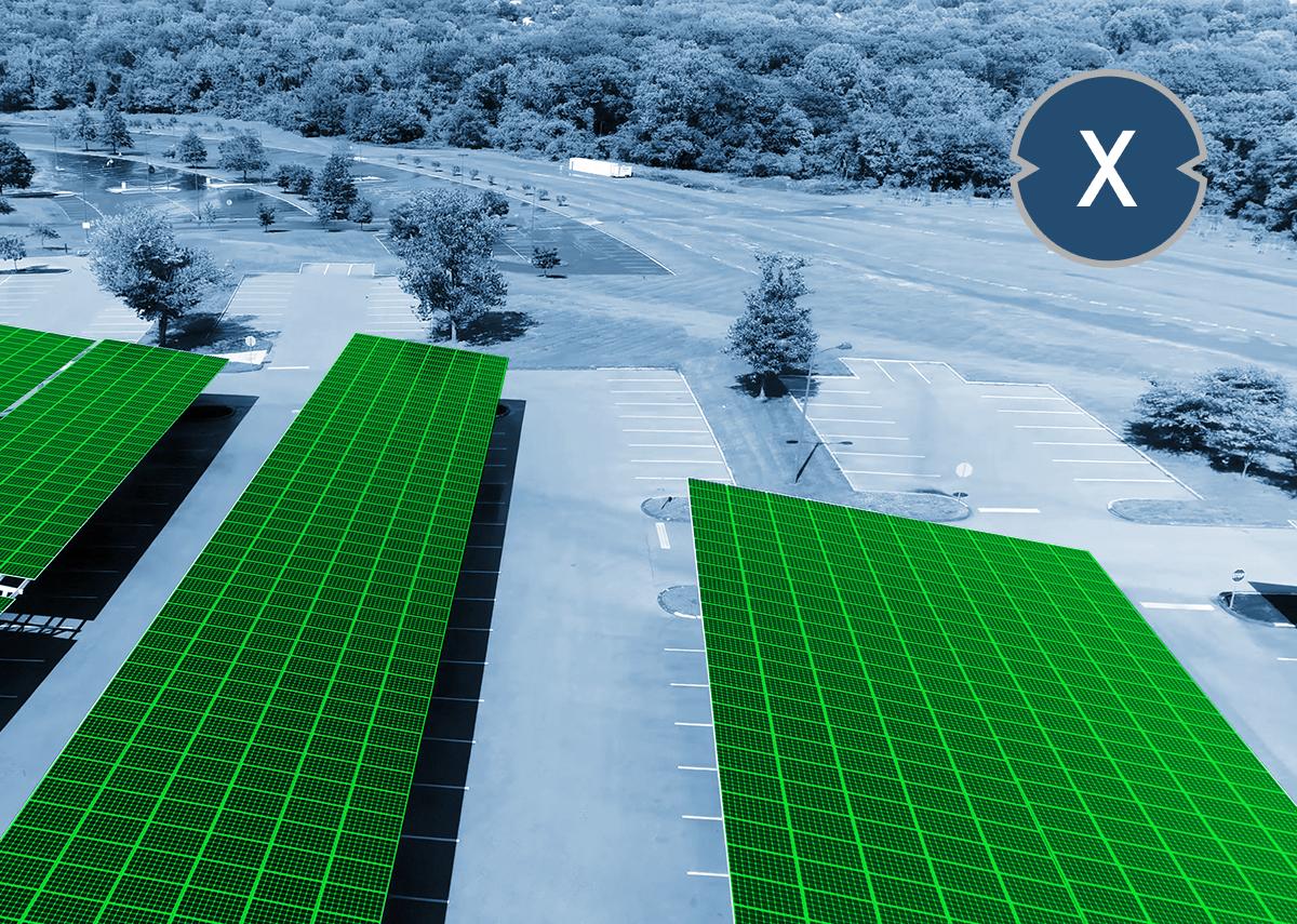 Photovoltaik Solarcarport und Solar für Flachdach wie Schrägdach - Xpert.Digital / wadstock Shutterstock.com