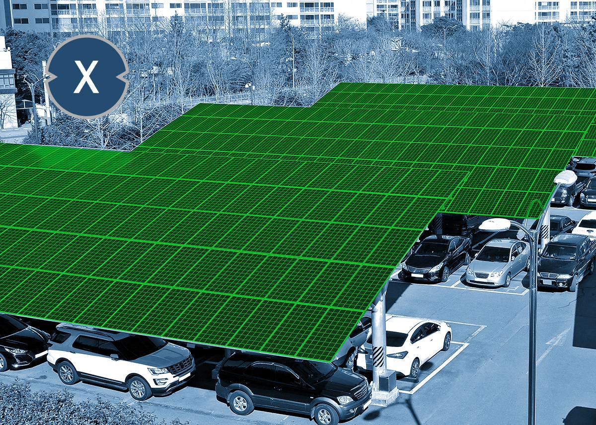 Photovoltaik Solarcarport und Solar für Flachdach wie Schrägdach - Xpert.Digital / seo byeong gon Shutterstock.com