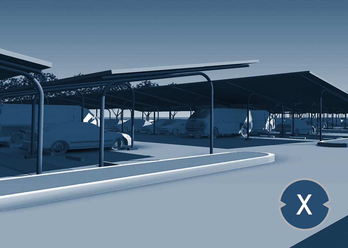 Solarcarport: Solare Parkplatzüberdachung