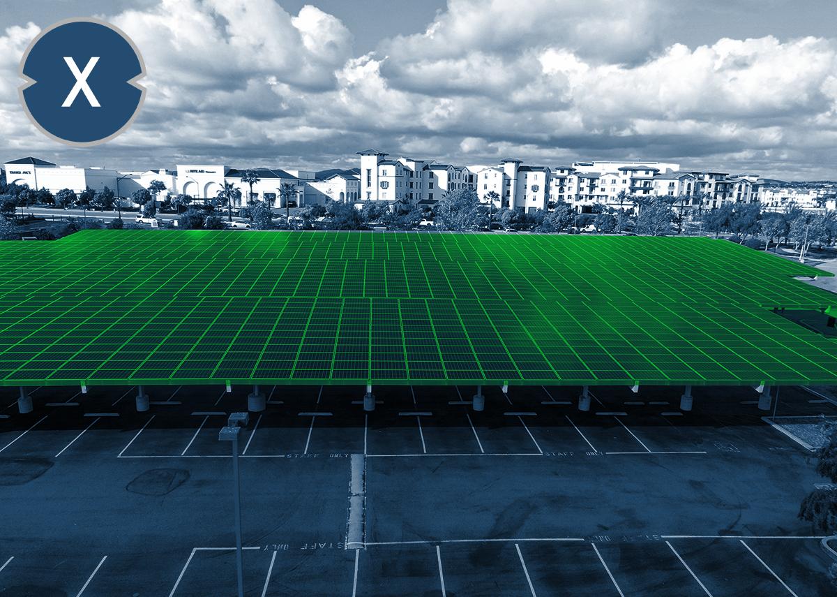 Solar-Parkplatzanlage / Solarcarport