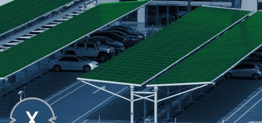 Solar-Parkplatzüberdachung / Solarcarport