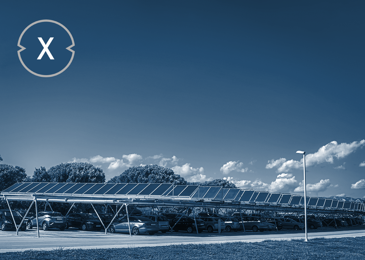 Überdachte offene Parkplätze - Solarcarports