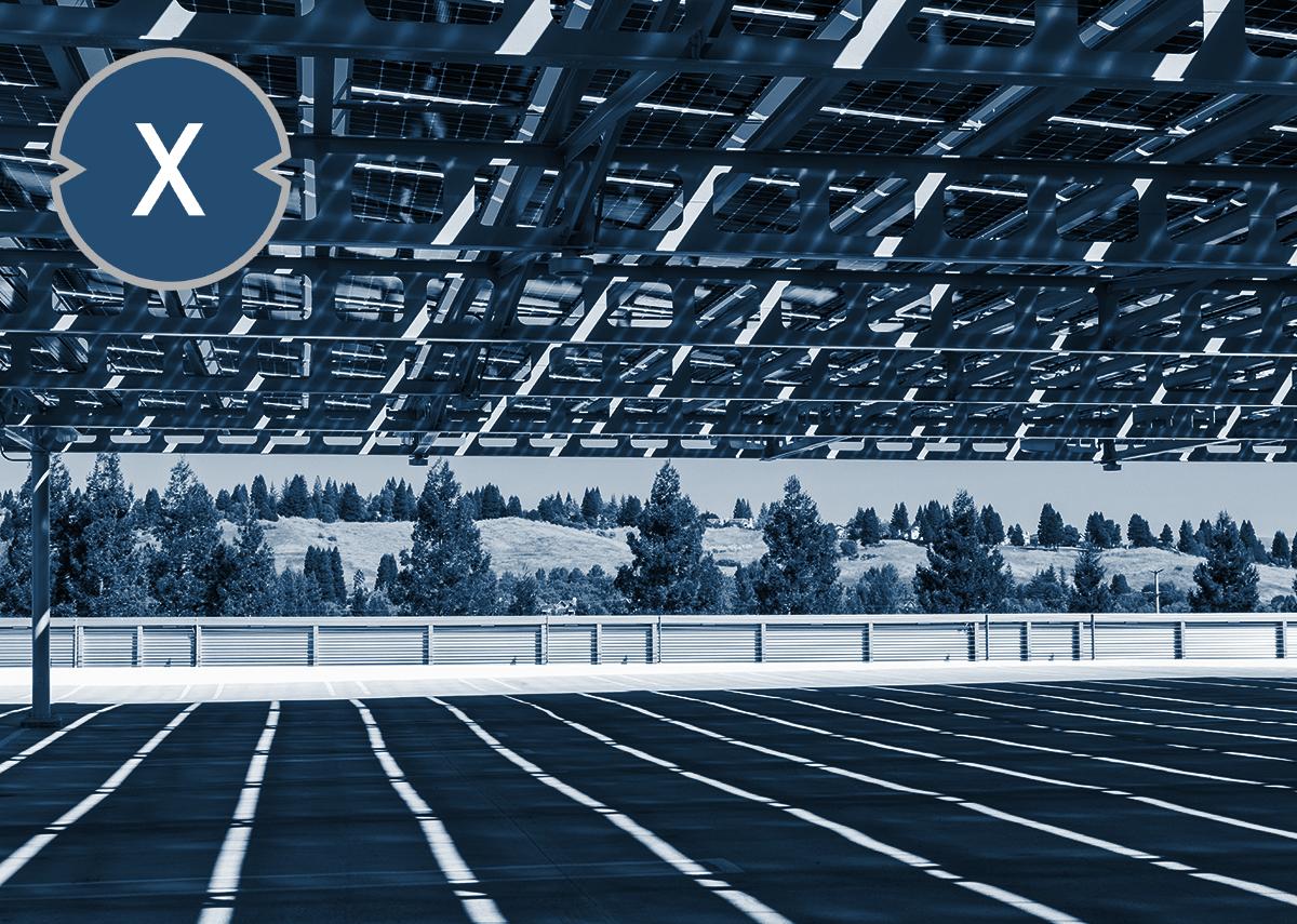 Solarcarports schützen Parkflächen und erzeugen Strom